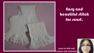 Easy and beautiful knitted pattern