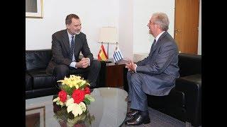 Encuentro de S.M. el Rey con el Presidente de Uruguay, S.E. Tabaré Vázquez