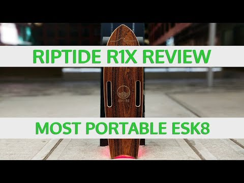 Riptide R1X Review: HUGE Improvement to the Most Portable Electric Skateboard