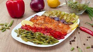 Овощное ассорти с форелью - Рецепты от Со Вкусом
