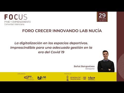 II Sesión Foro Crecer Innovando Lab Nucía - Digitalización en los espacios deportivos[;;;][;;;]