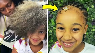 Cali's New Hairstyle TRANSFORMATION #shorts | FamousTubeFamily