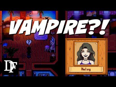 Haley Is Secretly A..Vampire?! - Stardew Valley Gameplay HD