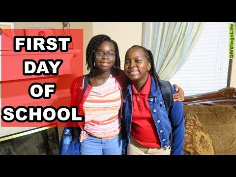 First Day of School 2019 | High School Freshman and Middle School 6th Grade