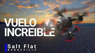 ((Impresionante vuelo de drone dji fpv 4k en el desierto salt flats bonneville amanecer Utah!!! ))