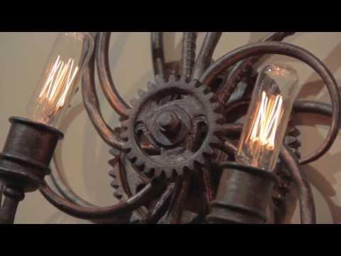 Video for Revolution Bronze Six-Light Large Pendant