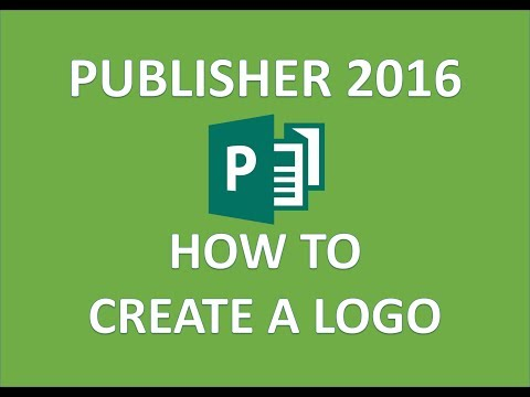 Publisher 2016 - Logo Design - How to Create Make and Use ...