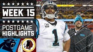 Panthers vs. Redskins | NFL Week 15 Game Highlights