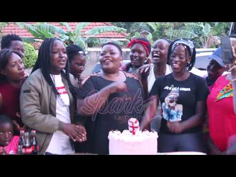 Mother's joy! Catherine Kusasira treated to a surprise birthday party by kids