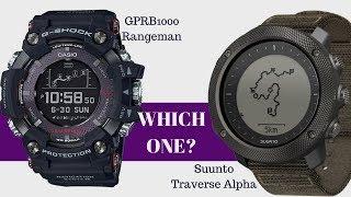 Welches ist besser? GPR-B1000 Rangeman vs Suunto Traverse Alpha Uhrenvergleich