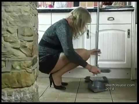 Sexy woman cards Hot Milf Mel From Stiletto Tease Is Cleaning In..