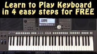 Learn to Play Keyboard in 4 Easy Steps