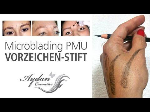 Richtiges Spitzen des Vorzeichenstifts (Microblading Permanent Make-up)