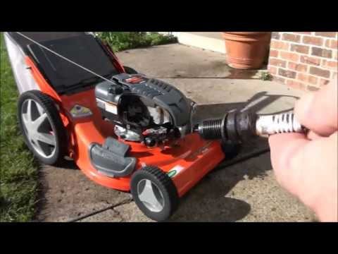 Scott's Briggs Intek OHV engine LAWNMOWER been sitting. WON'T START.  HOW TO Clean the CARBURETOR