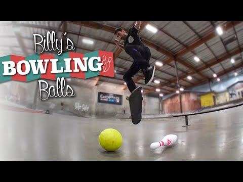Unbelievable Bowling Tricks at a Skateboard Park