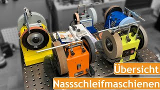 Nassschleifmaschienen Vergleich   WELDINGER NSM 250, Scheppach TiGer 2000, Triton TWSS 10, Tormek T4