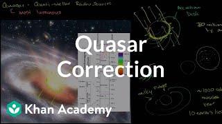 Quasar Correction