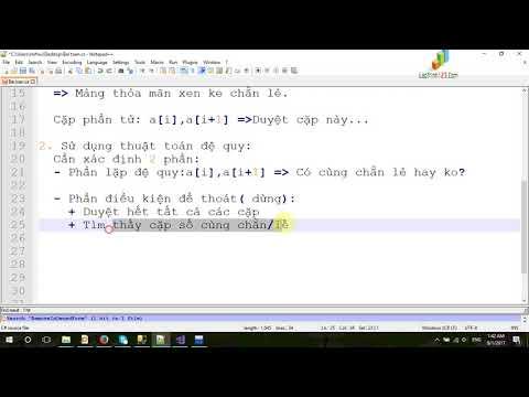 Video 03 - Mảng xen kẽ chẵn lẻ - Đệ Quy