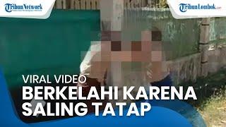 Viral Video Siswi SMP di Mataram Berkelahi Gara-gara Saling Tatap