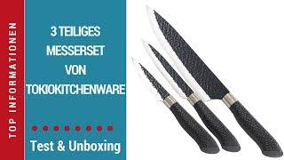 """► Unboxing- und Test-Video des 3-teiligen Messer-Sets """"TokioKitchenWare"""" von Pearl auf Deutsch ☑"""