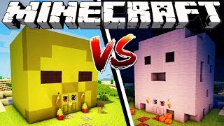 ZOMBIE HOUSE VS GHOST HOUSE - Minecraft