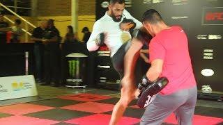 UFC Argentina: Santiago Ponzinibbio Open Workout Highlights - MMA Fighting