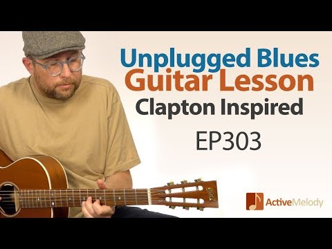 Unplugged Blues Guitar Lesson - Acoustic Blues Guitar Tutorial - EP303