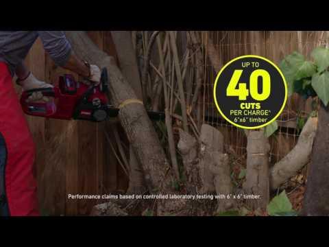 Toro 40V Max. 14 in. Chainsaw Bare Tool in Farmington, Missouri - Video 1