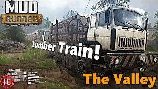SpinTires MudRunner Xbox One: The Valley DLC COMPLETED! LUMBER TRAIN!
