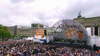 Barack Obama and German Chancellor Merkel speech in Germany