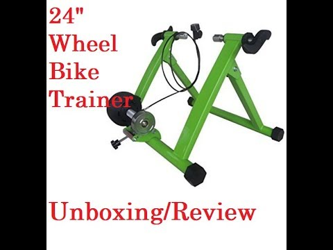 """24"""" Green Magnet Steel Bike Bicycle Indoor Exercise Trainer Stand"""