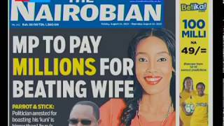 MP to pay millions for beating wife , Musicians meager MCSK royalties  | HOT TOPICS