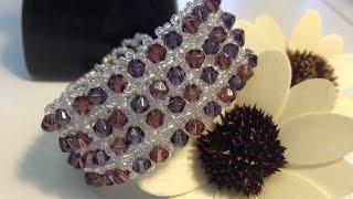 ELEGANT BRACELET with Swarovski crystals. MK: Элегантный браслет!