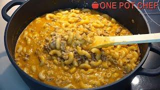 One Pot Cheesy Beef Taco Pasta | One Pot Chef