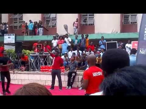 Hot Dance Step At The Nescafe Show At Unilag - Must Watch