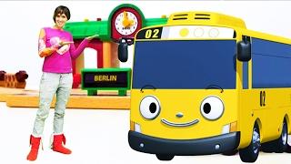 Видео для детей #ВеселаяШкола про МАШИНКИ, поезда и автобус Тайо. Песенки для детей LEGO игрушки