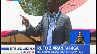 DP RUTO: Hamjazoea viongozi kama mimi kuja kwa Harambee, safari hii Vihiga si Vihiga ya tyalala