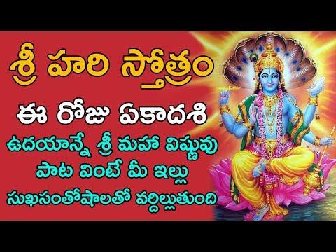 Download Shri Hari Stotram Video 3GP Mp4 FLV HD Mp3 Download