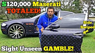 I Bought a TOTALED Louis Vuitton MASERATI from Salvage Auction SUPER CHEAP! It came HAIL DAMAGED!