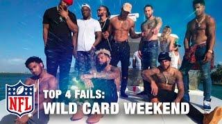 Top 4 Fails (Wild Card Weekend) | The Shek Report | Kholo.pk