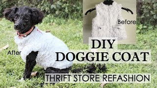 EASY DIY Dog Coat Refashion - Making Cute Dog Clothes From Baby Clothes