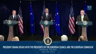 President Obama Meets with the Presidents of the European Council and the European Commission