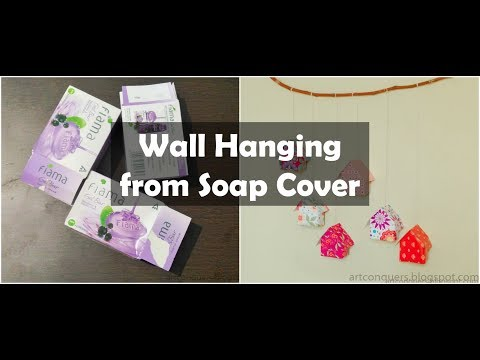 Wall Hanging From Waste Material-Soap Cover