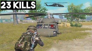 *NEW* HELICOPTER!   23 KILLS SOLO vs SQUAD   PUBG Mobile 🐼