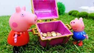 Игрушки из мультфильмов про Свинку Пеппу - Свинки ищут клад