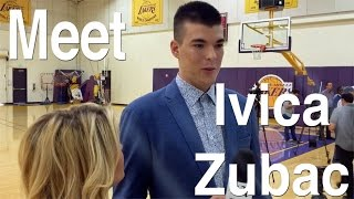 Lakers Ivica Zubac arrives in Los Angeles, takes in experience