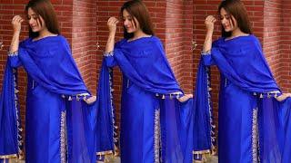 Royal Blue Colour Combination Punjabi Suits Designs Ll Latest Stylish Punjabi Suits Designs