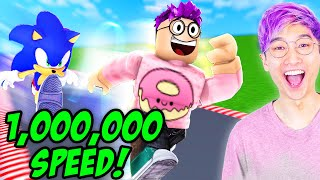 Can You Get 1,000,000 SPEED In This Crazy ROBLOX GAME!? (LEGENDS OF SPEED)