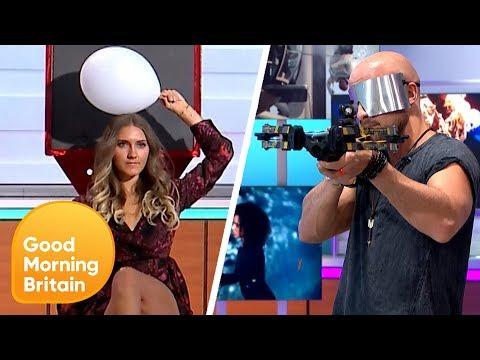 BGT's Jonathan Goodwin Leaves Susanna Feeling Sick After His Blindfold Stunt | Good Morning Britain (видео)