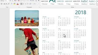 "Create an ""Any Year"" calendar in Microsoft Word"